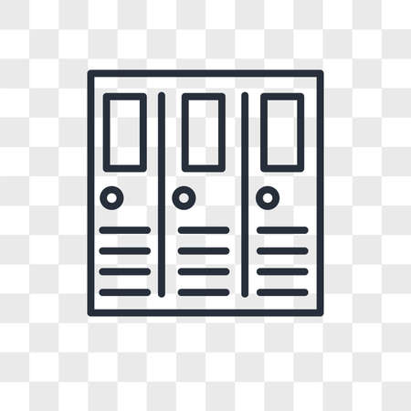 Lockers vector icon isolated on transparent background, Lockers logo concept