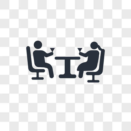 Couple drinking in a bar vector icon isolated on transparent background, Couple drinking in a bar logo concept 向量圖像