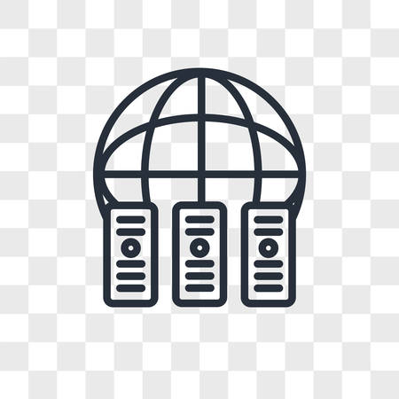 colocation vector icon isolated on transparent background, colocation logo concept