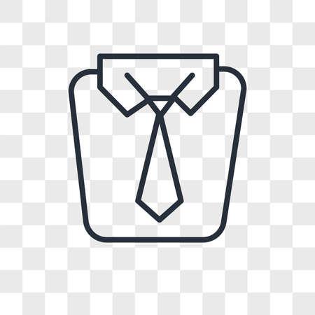 Uniform vector icon isolated on transparent background, Uniform logo concept