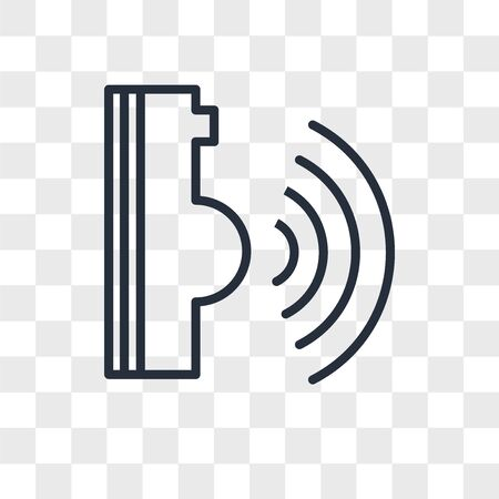 voice command vector icon isolated on transparent background, voice command logo concept