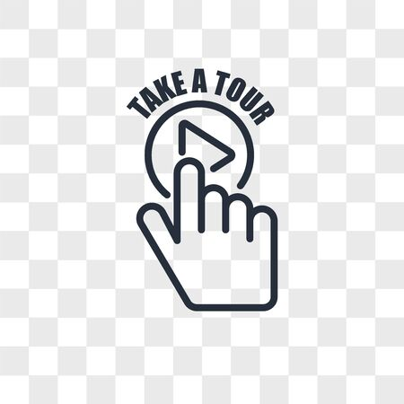 take a tour vector icon isolated on transparent background, take a tour logo concept