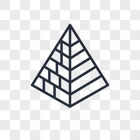 Captives to Egypt vector icon isolated on transparent background, Captives to Egypt logo concept Ilustracja