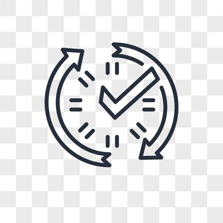real time data vector icon isolated on transparent background, real time data logo concept