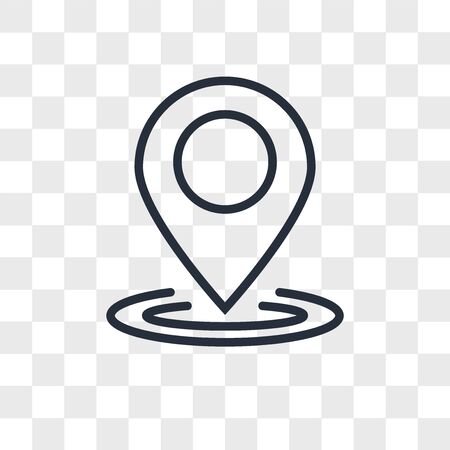 location vector icon isolated on transparent background, location logo concept 일러스트