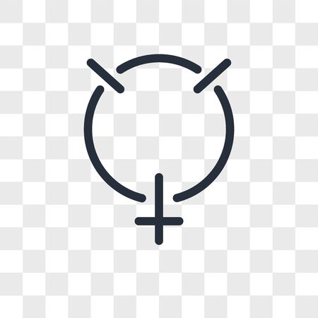 Mercury vector icon isolated on transparent background, Mercury logo concept