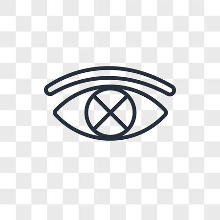 censorship vector icon isolated on transparent background, censorship logo concept Ilustração