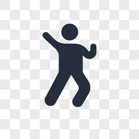 Win Gesture vector icon isolated on transparent background, Win Gesture logo concept