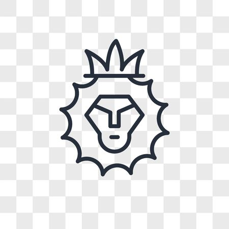 Lion of Judah vector icon isolated on transparent background, Lion of Judah logo concept