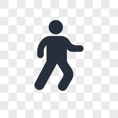 Man walking vector icon isolated on transparent background, Man walking logo concept