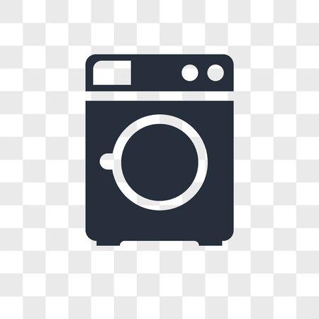 Washing machine vector icon isolated on transparent background, Washing machine logo concept