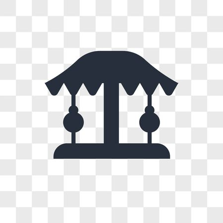 Carousel vector icon isolated on transparent background, Carousel logo concept Vettoriali