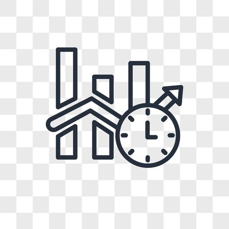 real time analytics vector icon isolated on transparent background, real time analytics logo concept