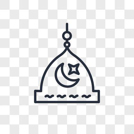 Medina vector icon isolated on transparent background, Medina logo concept