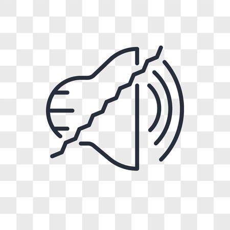 noise uction vector icon isolated on transparent background, noise uction logo concept