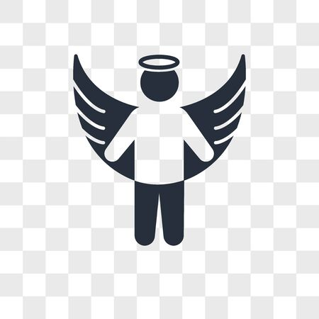 Angel apparition vector icon isolated on transparent background, Angel apparition logo concept