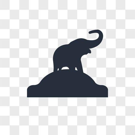 Elephant vector icon isolated on transparent background, Elephant logo concept