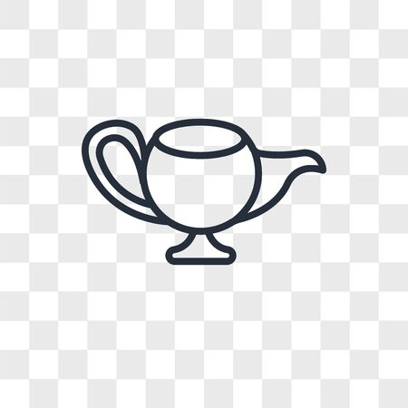 Genie Lamp vector icon isolated on transparent background, Genie Lamp logo concept