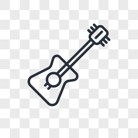 Violin vector icon isolated on transparent background, Violin logo concept Stock Illustratie