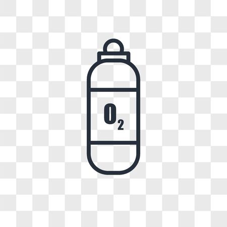 Oxygen tank vector icon isolated on transparent background, Oxygen tank logo concept