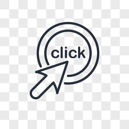 click me vector icon isolated on transparent background, click me logo concept
