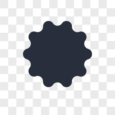 Sun emoji vector icon isolated on transparent background, Sun emoji logo concept Vettoriali