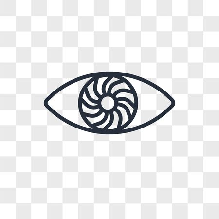 hypnosis vector icon isolated on transparent background, hypnosis logo concept Stock Illustratie