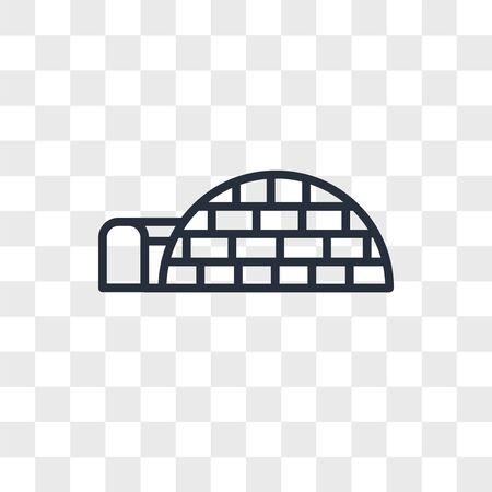 igloo icon isolated on transparent background