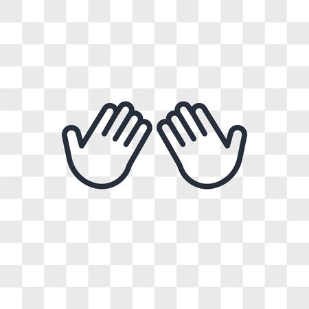 Dua Hands vector icon isolated on transparent background, Dua Hands logo concept Illustration