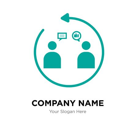 customer engagement company logo design template, Business corporate vector icon