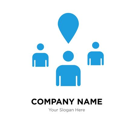 you are here company logo design template, Business corporate vector icon