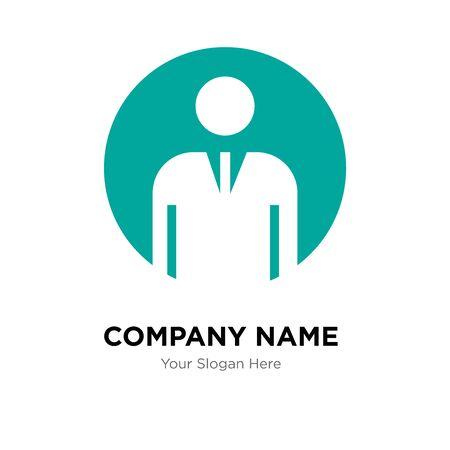 generic person company logo design template, Business corporate vector icon