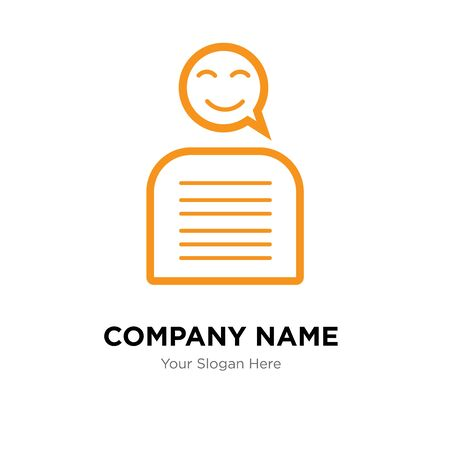 chatbot company logo design template, Business corporate vector icon