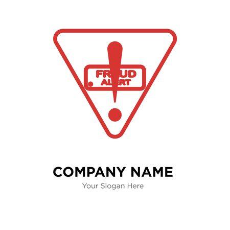 fraud alert company logo design template, Business corporate vector icon