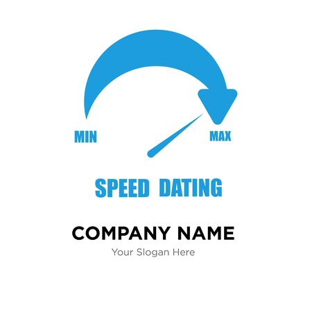 speed dating company logo design template, Business corporate vector icon Stock Photo