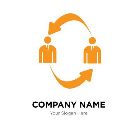 b2b company logo design template, Business corporate vector icon