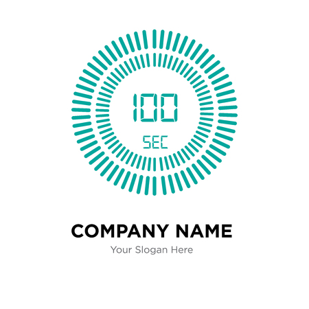 The 100 seconds company logo design template, The 100 seconds logotype vector icon, business corporative