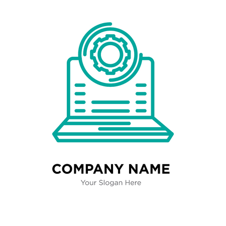 Laptop company logo design template, Laptop logotype vector icon, business corporative