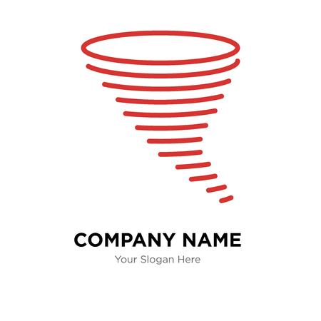 Tornado company logo design template, Tornado logotype vector icon, business corporative