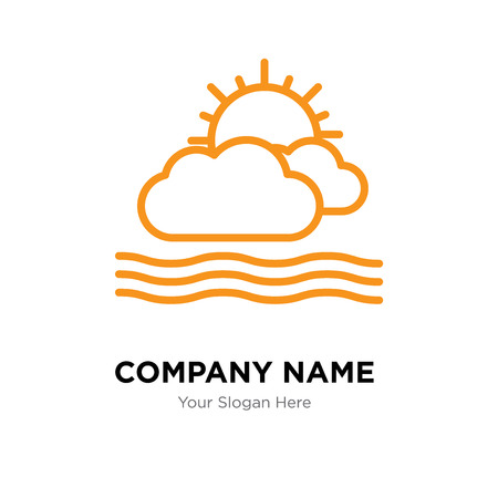 Cloudy company logo design template, Cloudy logotype vector icon, business corporative