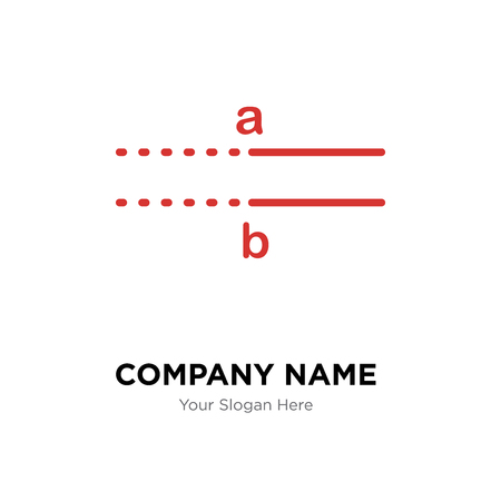 Parallel company logo design template, Parallel logotype vector icon, business corporative Çizim