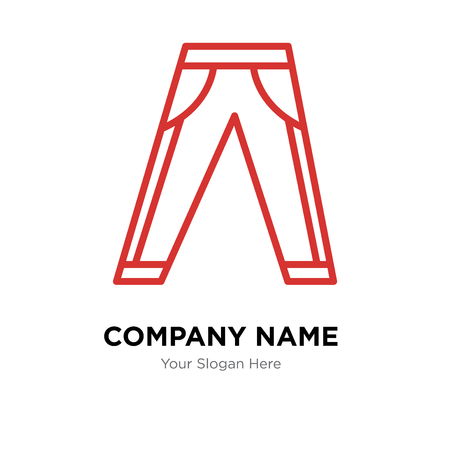 Szablon projektu logo firmy dżinsy, ikona wektora logo dżinsów, firma korporacyjna