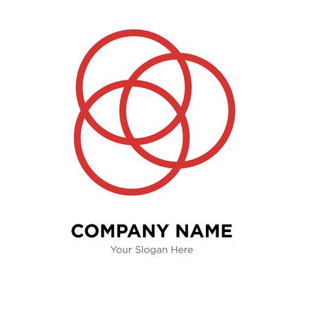 Rgb company logo design template, Rgb logotype vector icon, business corporative Vectores