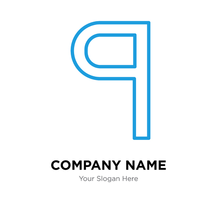 Paragraph company logo design template, Paragraph logotype vector icon, business corporative Ilustração