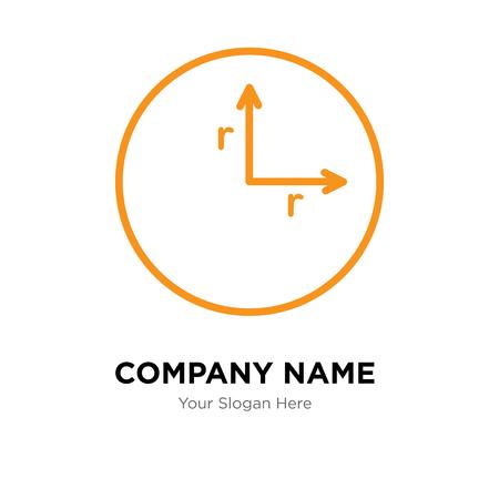 Radius company logo design template, Radius logotype vector icon, business corporative