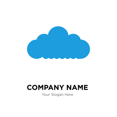 Cloudes company logo design template, Cloudes logotype vector icon, business corporative Ilustração