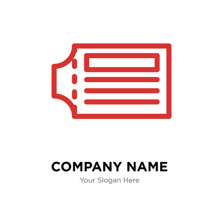 Ticket company logo design template, Ticket logotype vector icon, business corporative