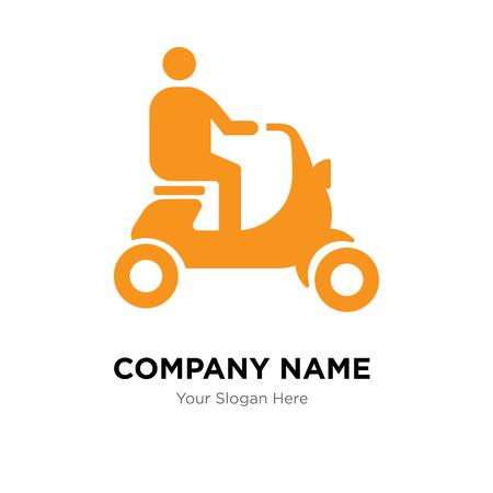 Plantilla de diseño de logotipo de empresa de scooter, icono de vector de logotipo de scooter, empresa corporativa Logos