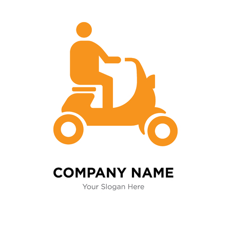 Scooter company logo design template, Scooter logotype vector icon, business corporative Logo