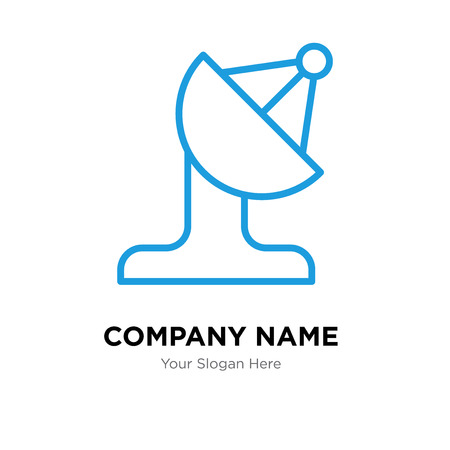 Satellite company logo design template, Satellite logotype vector icon, business corporative
